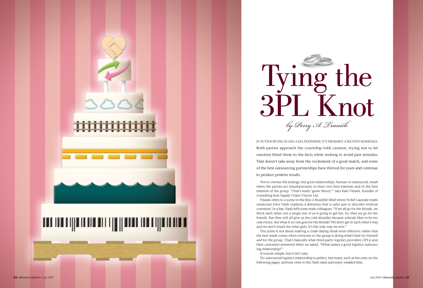 Tying the 3PL Knot Feature Story Opening Spread