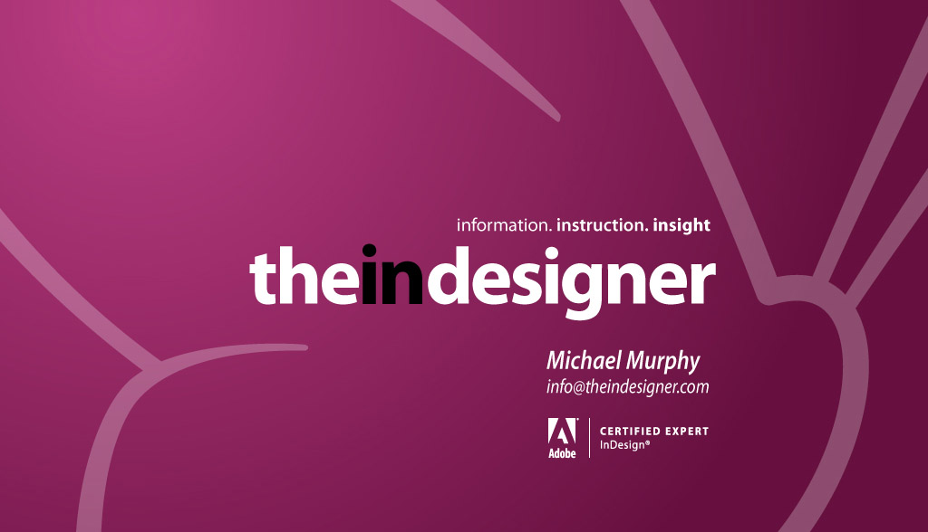 The InDesigner Title Card