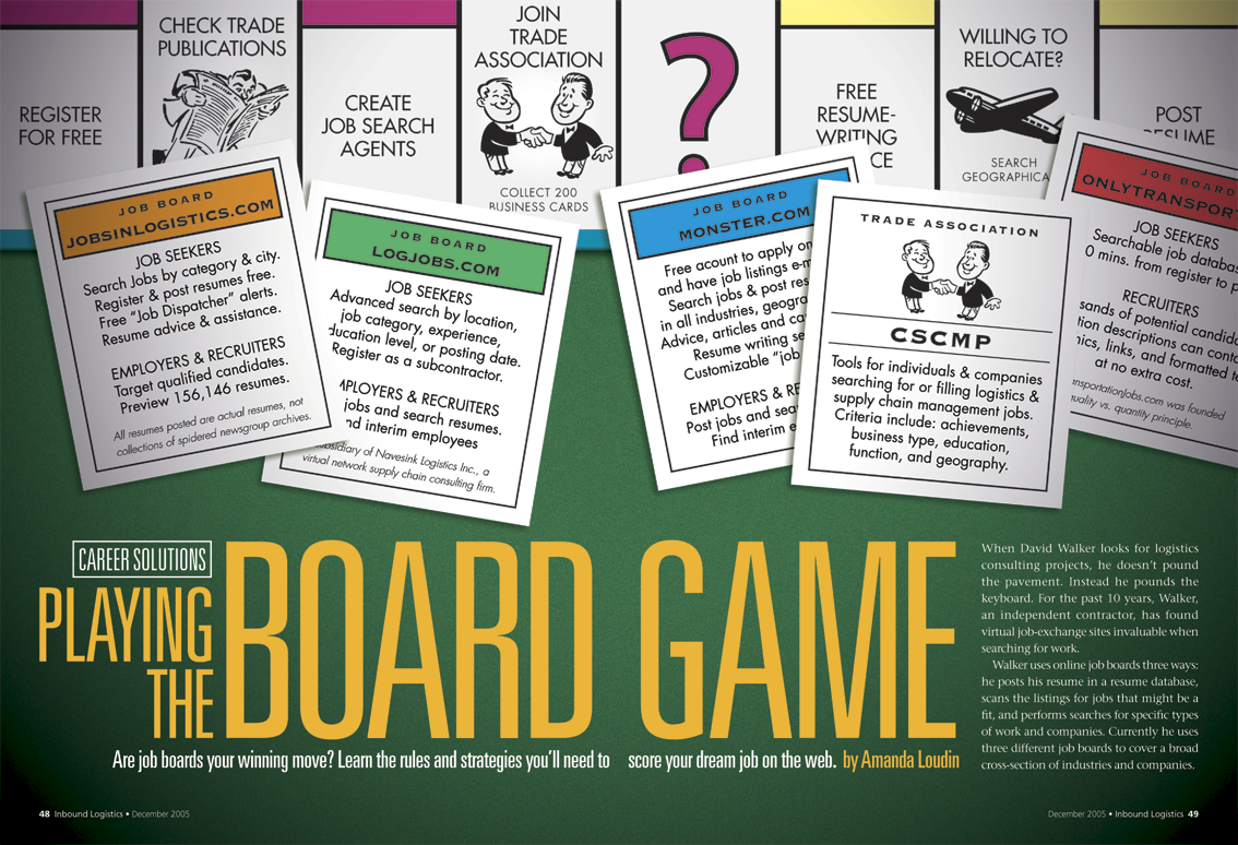 vine street design feature spreads playing the board game opening sp for feature about using online job boards for